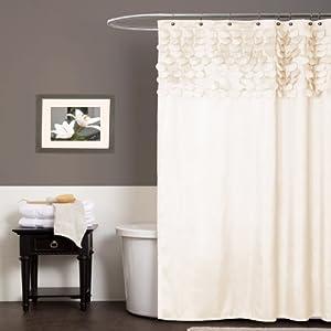 Lush Decor Lillian Shower Curtain 72 Inch By 72 Inch Beige