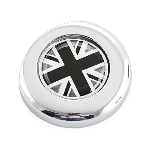 Classic Black/White UK Union Jack Design Engine Start Push Start Cap Cover fit MINI Cooper 2nd Gen metal