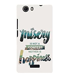 printtech Misery Happiness Back Case Cover for Micromax Canvas Nitro 2 E311::Micromax Canvas Nitro 2 (2nd Gen)