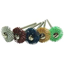 "JoolTool 3M 5 Piece Deluxe Miniature Bristle Brush Kit Assembled with 3/32"" Mandrel, 4 Ply, 9/16"" Diameter"
