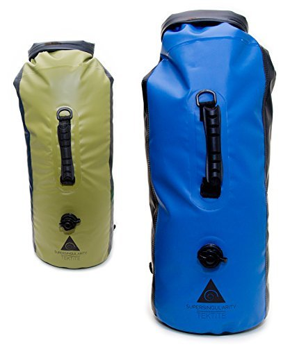 SUPERSINGULARITY 5-in-1 Waterproof Compression Backpack, 30L - Blue and Black