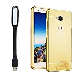 KTC USB LED Light With Golden Mirror Back Cover For Samsung Galaxy E5
