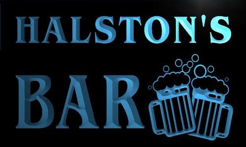 w111350-b-halston-name-home-bar-pub-beer-mugs-cheers-neon-light-sign