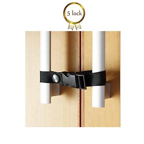 baby Safety Lock by Easy To Install Latch, Cabinet lock refrigerator lock Drawer lock (5 lock) (black (Refrigerator Lock Black compare prices)