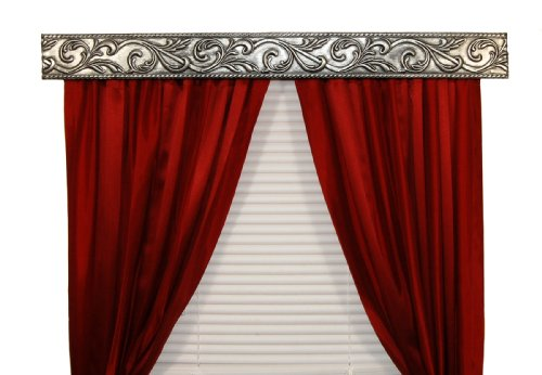 BCL Drapery Hardware 54AVAS Curtain Rod Valance, Acanthus Vine on ...