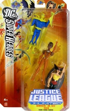 Buy Low Price Mattel JUSTICE LEAGUE UNLIMITED DC SUPER HEROES HAWKGIRL/DR. FATE/VIXEN Figures (B000EGETPW)