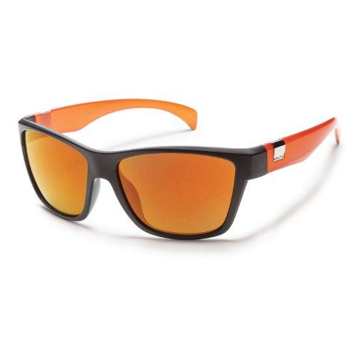 Suncloud Speedtrap Sunglasses - Black Orange/Orange Mirror Polarized front-981688