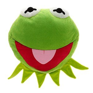 Disney Muppets Kermit the Frog Face Cushion Pillow Plush