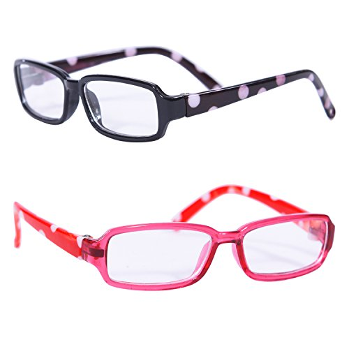 Set of 2 Polka Dot Doll Glasses - Glasses for 18 inch Dolls (Dolls Made Of Glass compare prices)