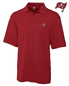 Tampa Bay Buccaneers Mens Drytec Championship Polo Cardinal Red by Cutter & Buck