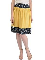 Bonhomie Women Skirts [BCQSB50_Yellow Print_Small]
