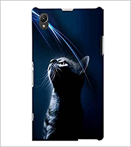 PrintDhaba Cat D-4025 Back Case Cover for SONY XPERIA Z1 (Multi-Coloured)