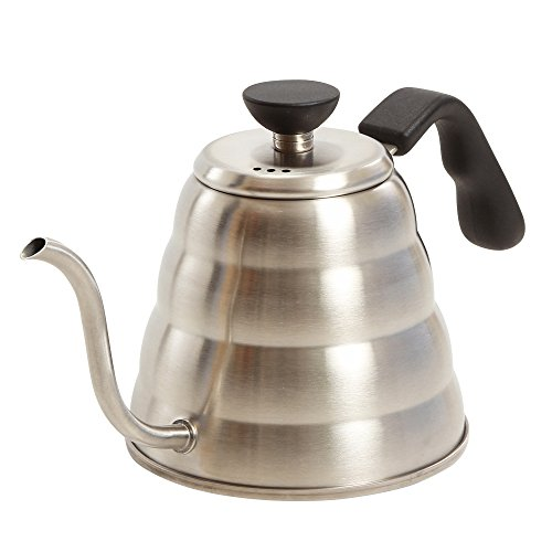 Premium Pour Over Coffee Kettle By KB Goodlife - 1.2 L / 40 oz Gooseneck Pouring Tea Kettle - Brushed Stainless Steel - Narrow Precision Spout - Perfect For Coffee & Tea Lovers - Ergonomic Grip Handle