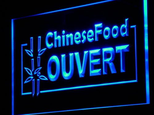 Adv Pro J156-B Chinese Food Ouvert Open Shop Led Light Sign