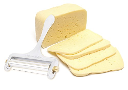 Cheese Slicer - Wire Cheese Cutter - Hard or Soft Cheese - 4 Inch - Non Stick Wire - Stainless Steel Handle