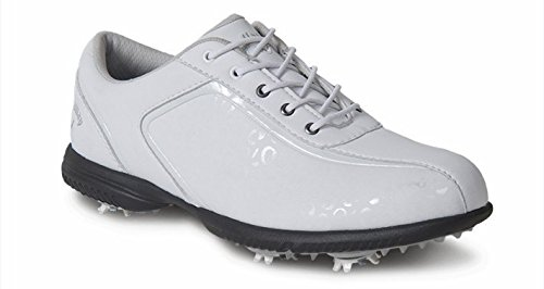 Callaway Footwear Women's Halo Pro Golf Shoe, White/Leopard, 6 M US