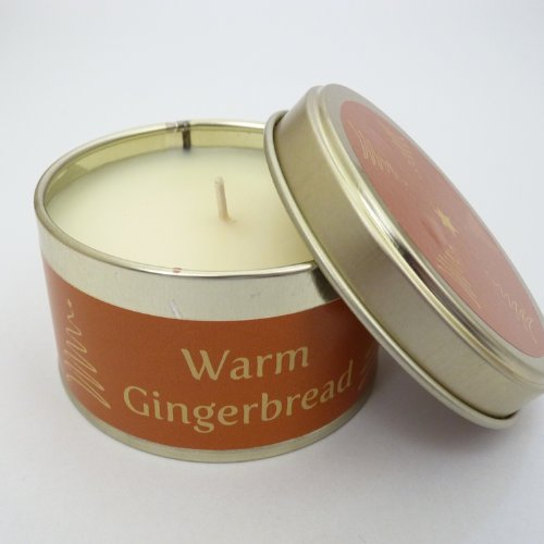 Pintail Scented Christmas Candle in Tin - Warm Gingerbread - made in the UK