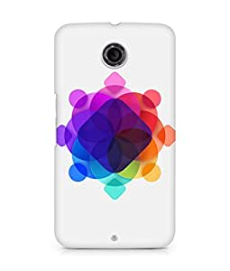 Amez designer printed 3d premium high quality back case cover for Motorola Nexus 6 (Apple art pattern)