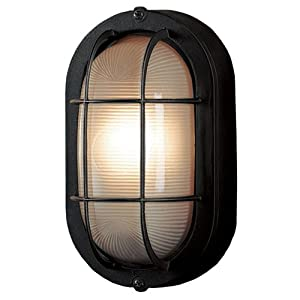 portfolio outdoor lighting portfolio outdoor oval deck light black. Black Bedroom Furniture Sets. Home Design Ideas
