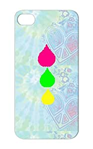 Yellow Colorful TearDrops Sadness Lovely Sentimental Teardrops Symbols Conceptual Emotional Vector Graphics Cry Art Three Teardrop Shapes Shapes Lime Hot Pink Vertical Designs Minimulism Symbols Pink Cover Case For Iphone 5/5s Three Tear Drops Graphic