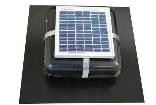 Solar Roof Vent - Solar Attic Fan - Solar RVOblaster with Black Vent