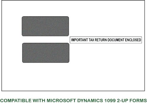 Microsoft Dynamics Gp Envelopes - 1099 2-Up Double-Window Envelope Moisture Seal (500 Envelopes) For Mailing 1099-Misc, 1099-Int, 1099-Div, 1099-R, 1099-Oid And 1099-K * Meets Irs Regulations