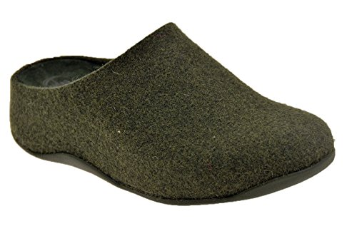 Fitflop? Shuv? Felt Pantofole Nuovo Tg 38 Sca.