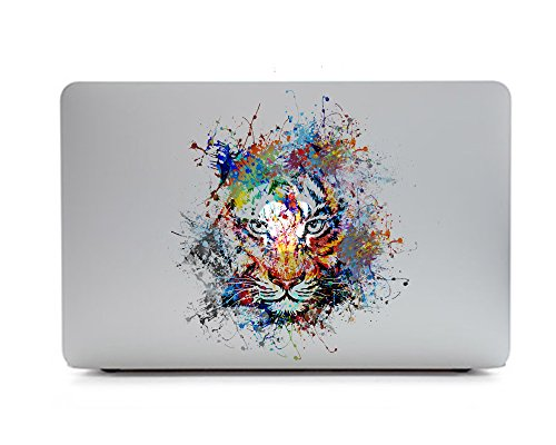 iCasso Animal Removable Vinyl Decal Sticker Skin for Apple Macbook Pro 11/13/15 inch Apple Macbook Air 11/12/13 inch Unibody 13 Inch Laptop (Tiger) (Macbook Air Removable Skin compare prices)