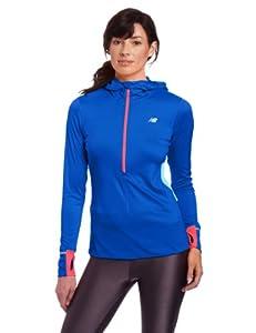 New Balance Sweat à capuche femme Dazz Blue XS