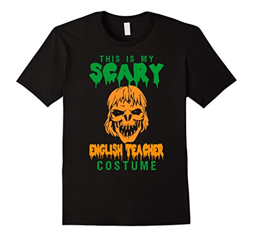 [Men's This Is My Scary English Teacher Costume Shirt XL Black] (Costumes For Teachers)