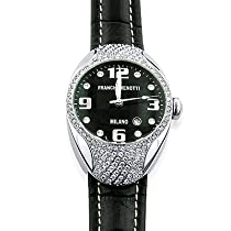"""Franchi Menotti Unisex """"9000 Series"""" Stainless Steel w/Leather Strap Watch"""