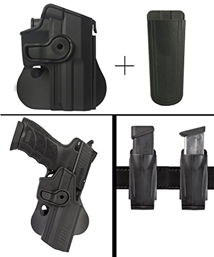 Sig Sauer Sigtac Walther P99, P99 AS, P99C AS, P99 Gen.2 Rotates 360 Right Hand Paddle Holster, Black + Ultimate