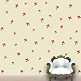 Aeroplanes Wall Pattern Red Tomato Stickers Set Of 52