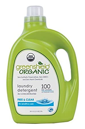 GreenShield Laundry Detergent, Free & Clear Org, 100 Ounce
