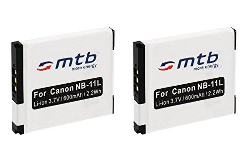 2x Akku NB-11L für Canon IXUS 125 HS, 135, 140, 240 HS ? / PowerShot A4000 IS, SX400 IS ... (s. Liste)