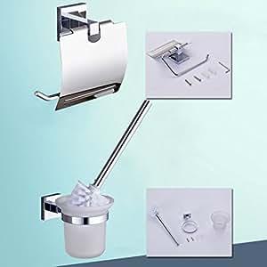 auralum luxe design porte papier de toilette avec wc brosse support brosse de toilette support. Black Bedroom Furniture Sets. Home Design Ideas