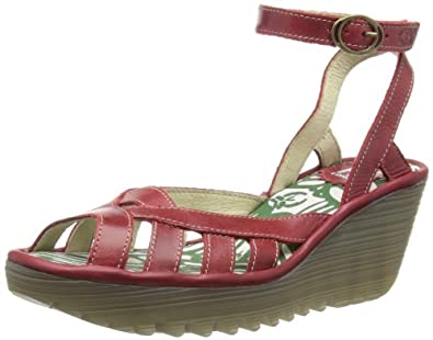 Fly London Womens Yuma Fashion Sandals P500480002 Red 3 UK, 36 EU