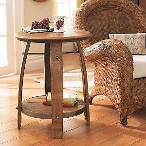 Cheap Wine Barrel End Table (B0000AV1GV)