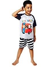 Raglan Sleeve Postman Pat Short Pyjamas