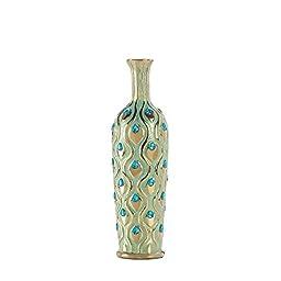 Home Decor Tall Peacock Jewel Vase