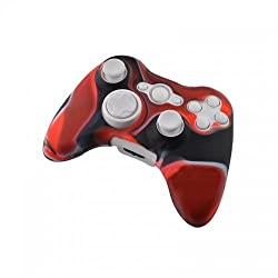 Hytech Plus Xbox 360 Controller Skin Red Black