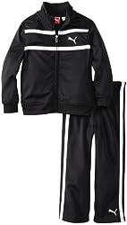 PUMA Little Boys' Logo Tricot Track Suit Set