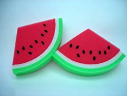 Rikio Watermelon Shaped Bath Sponges