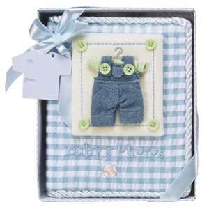 7 1/2 Inch Baby's First Photo Album-Boy/Keepsake