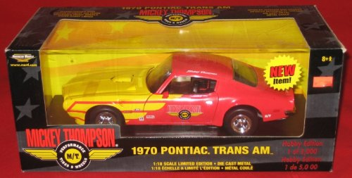 Mickey Thompson 1970 Pontiac Trans Am 1:18 Scale Limited Edition Die Cast Metal Car Model (American Muscle Series From Ertl - Hobby Edition 1 of 5,000) (1970 Pontiac Trans Am compare prices)