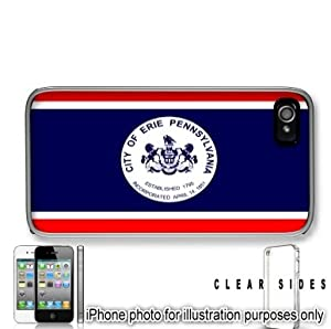 Erie Pennsylvania PA City State Flag Apple iPhone 4 4S Case Cover Skin Clear on Sides