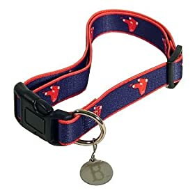 Boston Red Sox Logo Dog Collar Size M/L