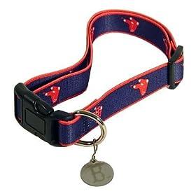 Boston Red Sox Logo Dog Collar Size M/L