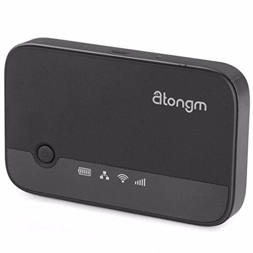 Wireless Travel Router, Atongm 3G Mobile Power Router Hard Drive Companion W300 Specification for windows XP 、windows Vista、windows 7、apple、androind system (Black) (Reset Parental Controls compare prices)