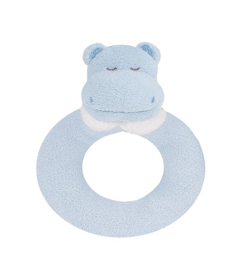 Angel Dear Ring Rattle, Blue Hippo - 1